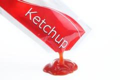 Paquete de la salsa de tomate Fotografía de archivo libre de regalías