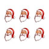Paquete de las emociones de Santa Claus Imagen de archivo