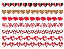 Paquete de las fronteras de los corazones Imágenes de archivo libres de regalías