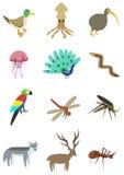 Paquete 3 de los animales Imágenes de archivo libres de regalías