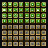 Paquete de los botones del juego Foto de archivo libre de regalías