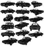 Paquete de los coches - detallado Imagen de archivo