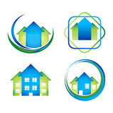 Paquete de los diseños de concepto del logotipo de Real Estate stock de ilustración
