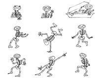 Paquete de los esqueletos de Halloween Fotografía de archivo libre de regalías