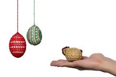 Paquete de los huevos del croché Fotografía de archivo libre de regalías