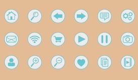 Paquete de los iconos del sitio web y de Internet Foto de archivo libre de regalías