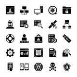 Paquete de los iconos del vector de la tecnología stock de ilustración