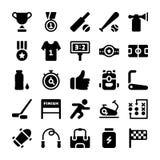 Paquete de los iconos de los deportes ilustración del vector