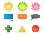 Paquete de los iconos y de los botones del vector Foto de archivo libre de regalías