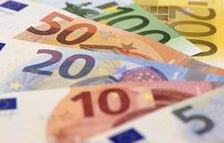 Paquete de moneda euro imagen de archivo