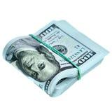 Paquete de nuevos dólares Imagen de archivo libre de regalías