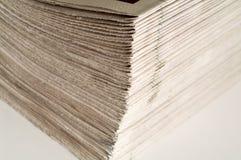 Paquete de periódicos Fotografía de archivo libre de regalías