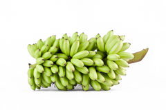 paquete de plátanos en la comida sana de la fruta de Pisang Mas Banana del fondo blanco aislada Fotos de archivo libres de regalías