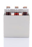 Paquete de seis de botellas de soda de la cola Imágenes de archivo libres de regalías