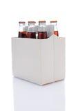 Paquete de seis de botellas de soda de la cola Imagenes de archivo