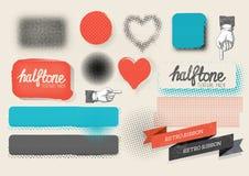 Paquete de semitono de la textura del vector Foto de archivo