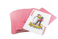 Paquete de tarjetas que juegan aislado Imagen de archivo libre de regalías