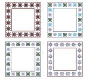 Paquete decorativo de los marcos Imagen de archivo libre de regalías