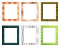 Paquete decorativo de los marcos Foto de archivo libre de regalías