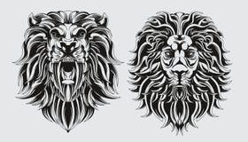 Paquete del balckline del león ilustración del vector