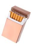 Paquete del cigarrillo Imagen de archivo libre de regalías