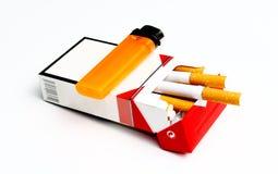 Paquete del cigarrillo Foto de archivo libre de regalías