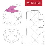 Paquete del concepto de la fruta Ejemplo del vector de la caja plantilla del paquete stock de ilustración