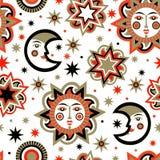 Paquete del día de fiesta con el sol y las estrellas Imagen de archivo