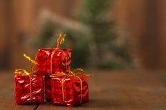 Paquete del día de fiesta de la decoración del Año Nuevo, partido Imagen de archivo libre de regalías