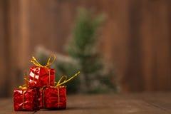 Paquete del día de fiesta de la decoración del Año Nuevo, partido Imagen de archivo