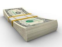 Paquete del dólar Fotografía de archivo libre de regalías
