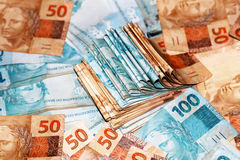 Paquete del dinero del Brasil Fotos de archivo