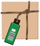 Paquete del equipaje para enviar ilustración del vector