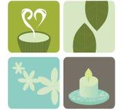 Paquete del icono de la salud y de la relajación Fotografía de archivo libre de regalías