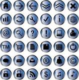 Paquete del icono del Web Imagen de archivo