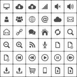 Paquete del icono del web de Internet en blanco Vector Fotos de archivo