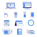 Paquete del icono para el escritorio imagen de archivo libre de regalías