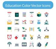 Paquete del icono del vector del color de la educación ilustración del vector
