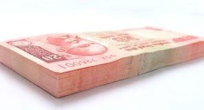Paquete del indio nota de 20 rupias imagenes de archivo