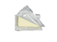 Paquete del queso cremoso Foto de archivo libre de regalías