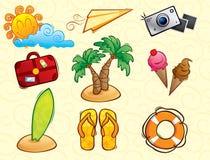 Paquete del vector de las vacaciones (verano) Fotos de archivo libres de regalías
