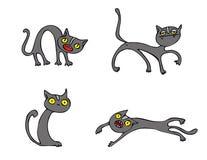Paquete del vector de los gatos de Halloween Fotos de archivo libres de regalías