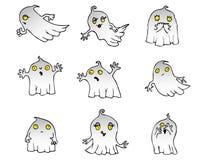Paquete del vector del fantasma de Halloween Imagenes de archivo