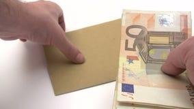 Paquete euro de relleno del salario almacen de video