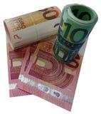 Paquete euro del png del dinero fotos de archivo libres de regalías
