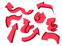 paquete fijado flechas 3d Fotografía de archivo libre de regalías