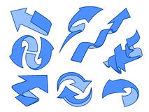 paquete fijado flechas de la historieta Imagen de archivo
