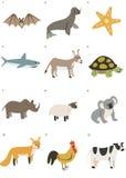 Paquete gráfico 1 de los animales de Minimalistic Foto de archivo