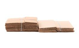 Paquete inútil de la cartulina para reciclar Imagen de archivo libre de regalías