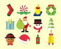 Paquete lindo del vector de la Navidad stock de ilustración